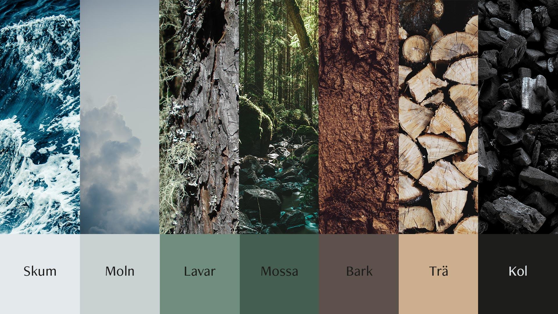 Vaunis profilfärger, som är inspirerade av naturen eftersom det speglar deras värderingar.